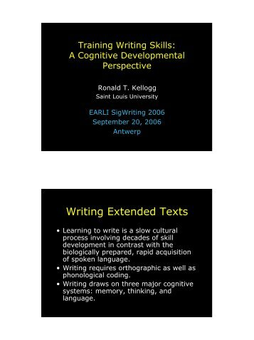 cognitive abilities essay Pacity or how much of these abilities or skills an individual possesses  tion theory of cognitive style is conceptually independent of creative cogni.
