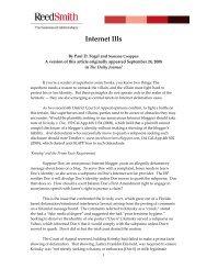 Internet Ills - Reed Smith