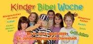 Kinder Bibel Woche - Ev. Johannesgemeinde Darmstadt