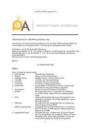 Verordening PA - Productschap Akkerbouw