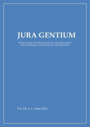Volume IX, 2012, 1 - Jura Gentium