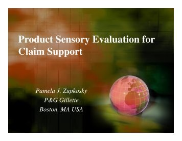 Product Sensory Evaluation for Claim Support - Sensory Spectrum