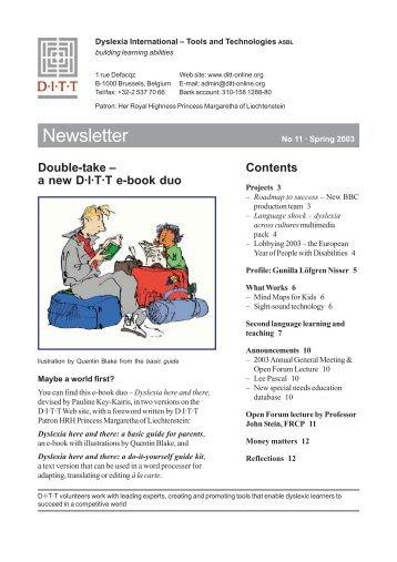 Spring 2003 - Dyslexia International