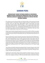 Press Release – 20 Maret 2013 - IESR