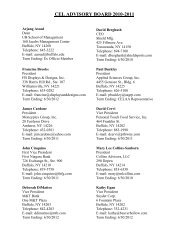 CEL ADVISORY BOARD 2010-2011 - University at Buffalo School of ...