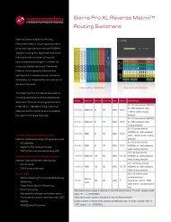Sierra Pro XL Reverse Matrix™ Routing Switchers - Sierra Video