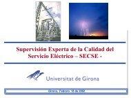 Supervisión Experta de la Calidad del Servicio Eléctrico - Huecos