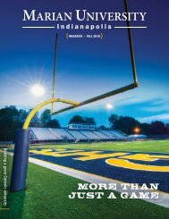 Download the fall 2010 issue of the Marian University Magazine.