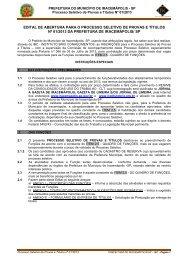 EDITAL DE ABERTURA PARA O PROCESSO ... - PCI - Concursos