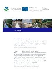 Pozvánka Olomouc - Státní fond životního prostředí