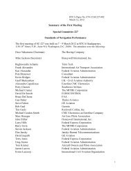 Summary of the First Meeting Special Committee 227 ... - RTCA
