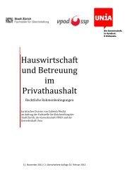 Hauswirtschaft und Betreuung im Privathaushalt ... - Stadt Zürich