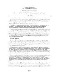Mark Zandi Chief Economist, Moody's Analytics - Economy.com