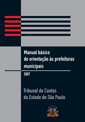 Orientação às Prefeituras Municipais - Tribunal de Contas do ...