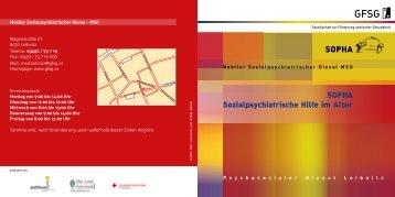 SOPHA Sozialpsychiatrische Hilfe im Alter - Gesellschaft zur ...