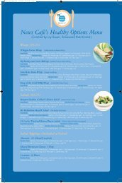 News Café's Healthy Options Menu - NewsClub
