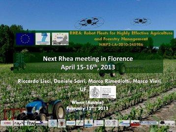 Florence - RHEA Project - EU