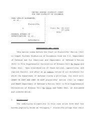 Memorandum & Order - Judicial Watch