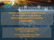 Generic Authorisation Infrastructure for on-demand ... - Phosphorus