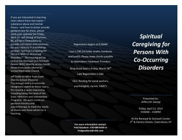 Spiritual Caregiving for Persons With Co-Occurring Disorders