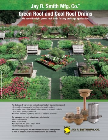 Brochure Green Roof And Cool Roof Drains   Jay R. Smith MFG Co.