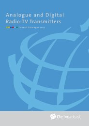 Analogue and Digital Radio-TV Transmitters - Alan