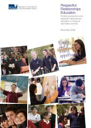 Violence prevention and respectful relationships education