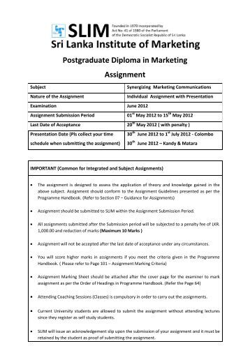 Marketing individual assignment