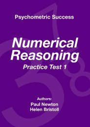 Numerical Reasoning - Practice Test 1 - Psychometric Testing