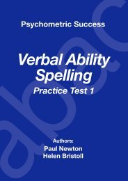 Verbal Ability Spelling - Practice Test 1 - Psychometric Testing