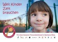 Die Plakat-Postkarte zur Kampagne - Weil Kinder Zeit brauchen