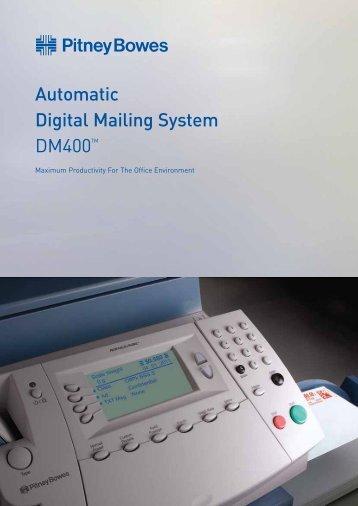 DM400 Postage Meter Brochure - Pitney Bowes