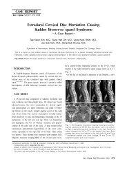 Extradural Cervical Disc Herniation Causing Sudden ... - E-kjs.org