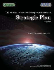 Strategic Plan - National Nuclear Security Administration - U.S. ...