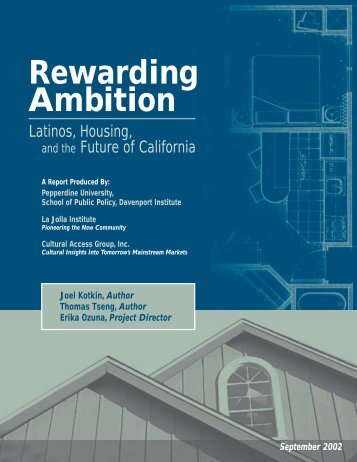 Rewarding Ambition - Pepperdine University School of Public Policy