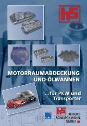 motorraumabdeckung und ölwannen - Hubert Schlieckmann GmbH