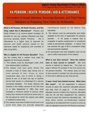 VA Form 21-534 - Veterans Benefits Administration