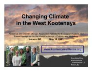 Changing Climate in the West Kootenays - Kootenayresilience.org