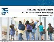 Region 8 Fall Update, September 16, 2011