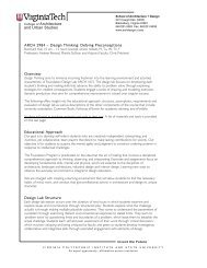 a syllabus DT2012 - School of Architecture + Design - Virginia Tech