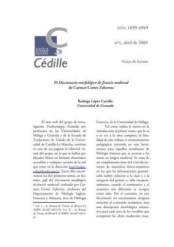 ISSN: 1699-4949 nº1, abril de 2005 - Çédille. Revista de estudios ...