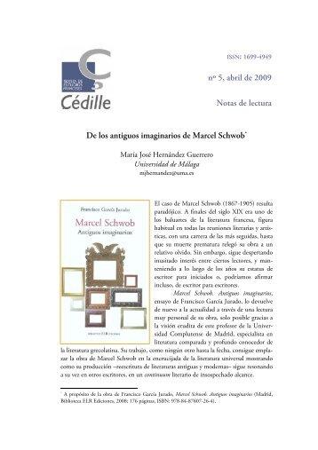 De los antiguos imaginarios de Marcel Schwob - Çédille. Revista de ...