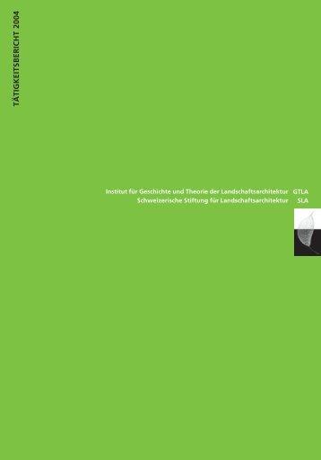 tätigkeitsbericht 2004 - Gtla.hsr.ch - HSR Hochschule für Technik ...