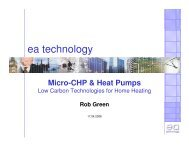 Micro-CHP & Heat Pumps - Scottish Energy Systems Group
