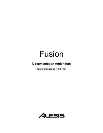 Manual Addendum - Alesis