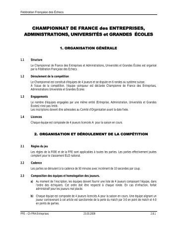 CHAMPIONNAT DE FRANCE des ENTREPRISES ...