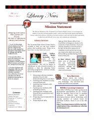 Fall Library News - Tecumseh Local Schools