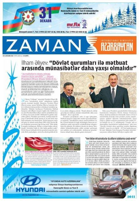 Ilham Aliyev Dovlat Qurumlari Ila Matbuat Arasinda Munasibatlar