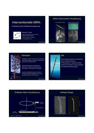Interventionelle MRA: