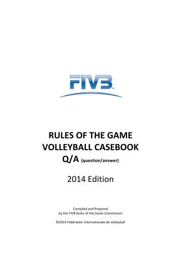 2015 volleyball rules casebook rules of the game volleyball casebook qa fandeluxe Image collections